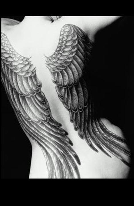 small tattoos for women. Small Wing Tattoos For Women