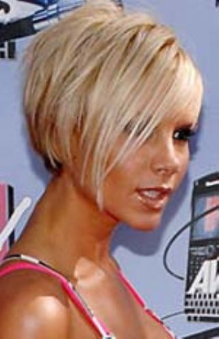 Short Side Swept Haircut With Bangs. Paris Hilton Modern Short Hair Styles