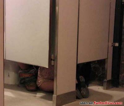 Bathroom stall glory hole videos