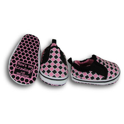 Pink Checkered Baby Sneakers