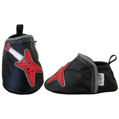 Electric Guitar Leather Baby Shoes