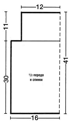 Схема вязания конверта для новорожденного.