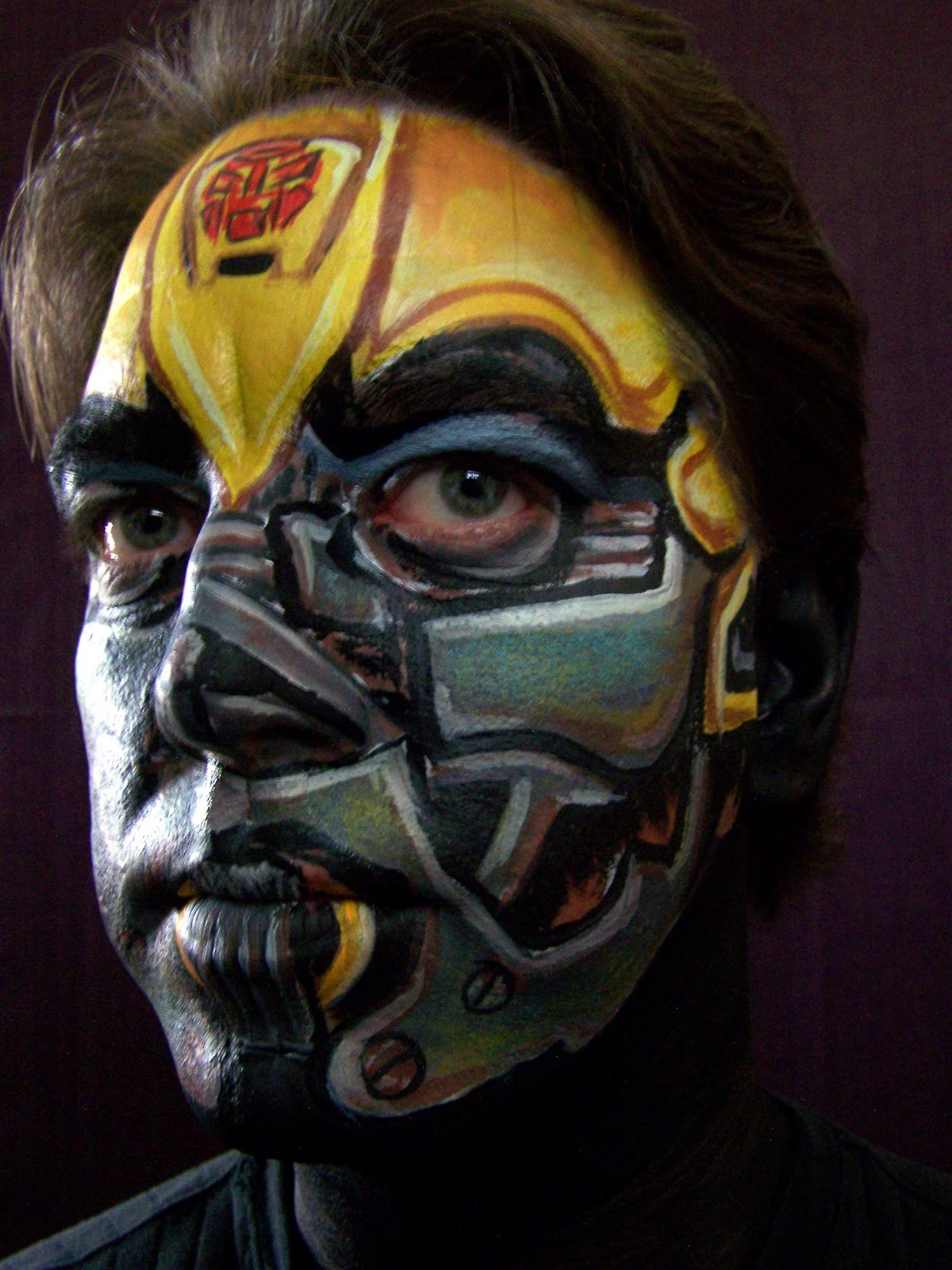 Transformers face paint | Transformers - Roll Out | Pinterest