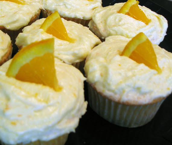 Orange cupcakes