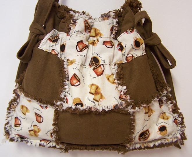 Coffee Lover Drawstring Denim Tote Bag Purse Handbag