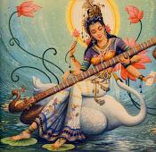Deusa Sarasvati