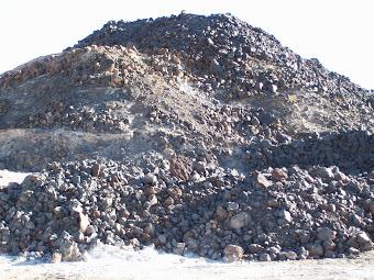 Montaña de Escorias de Plomo en Abra Pampa