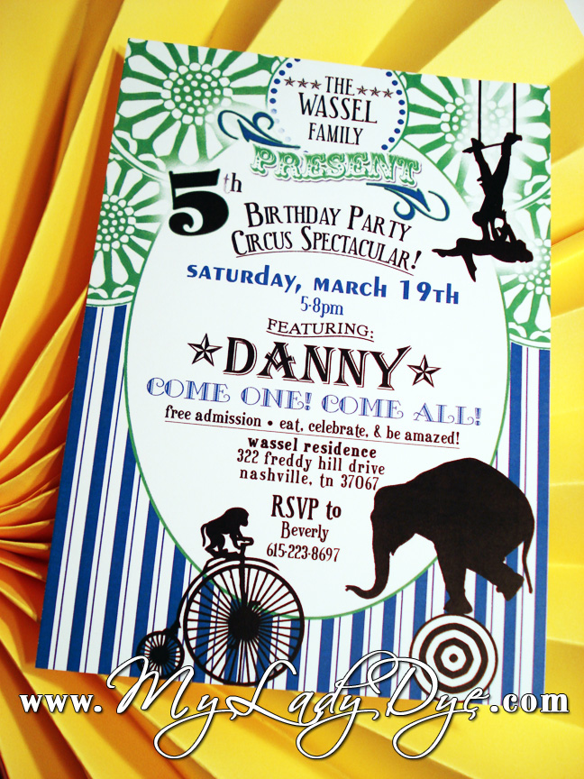 My Lady Dye - Handcrafted Stationery: A Fun Magical Circus Themed ...