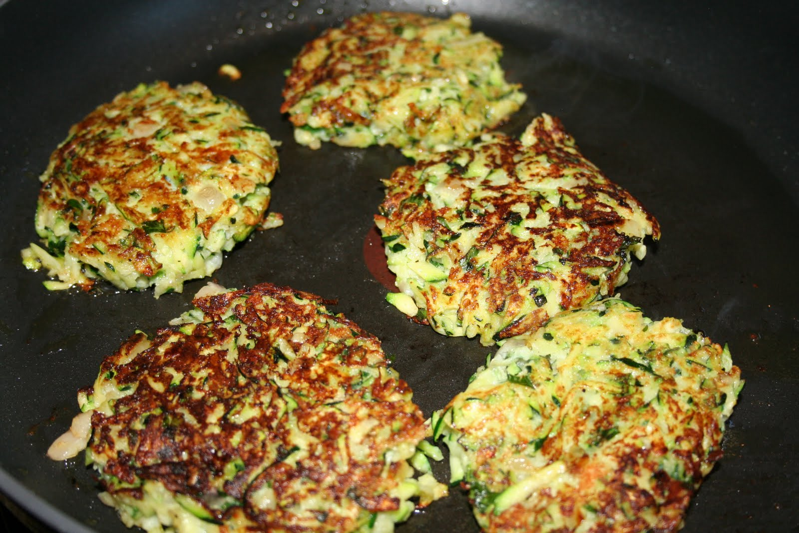 The Wife of a Dairyman ~ Churned in Cali: Zucchini Parmesan Cakes
