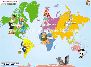 GIVE ME EASY WORLD MAP FOR CHILDREN - Show me world map