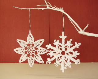 estrellas navideas hechas con ganchillo