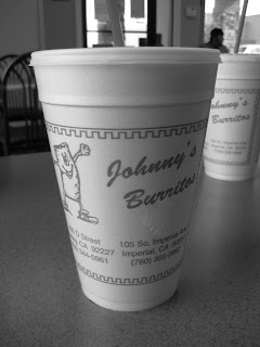 A cup at Johnny's Burritos