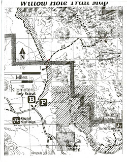 Willow Holes Hiking Map