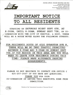 Flyer Notifying Neighbors of Upcoming Move