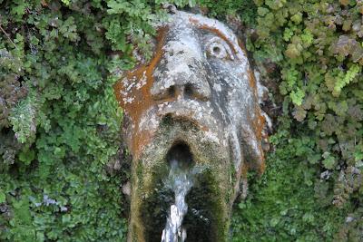 A Face in the Hundred Fountains at Villa d'Este Tivoli