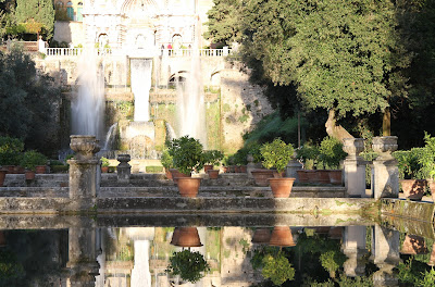 Looking Northeast Over the Fish Ponds Toward the Fountain of the Organ at Villa d'Este