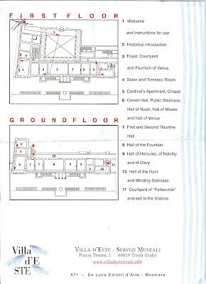 Villa D'Este Brochure and Map
