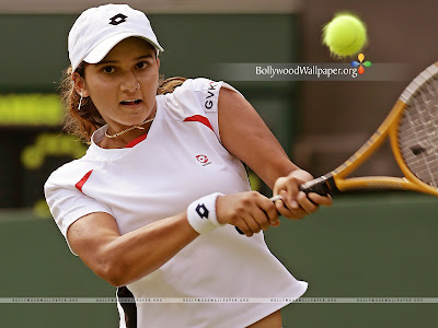 Indian Tennis Sports Star Sania Mirza Free Wallpers photo from Bollywoodwallpaper.org