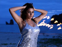 Namitha looking to beach side