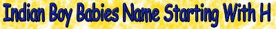 A-Z Letters Hindu boy kids name list