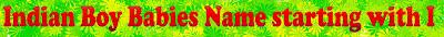 Male kids name list