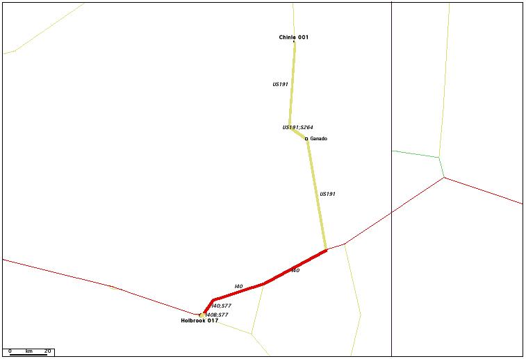 de Chinle, AZ 001 à Holbrook, AZ 017 / Distance: 196,90 km
