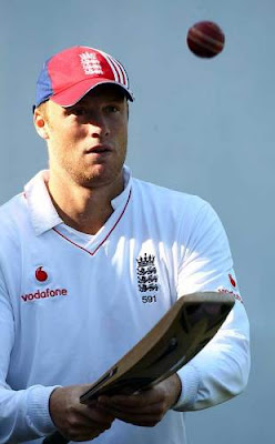 Andrew Flintoff keeps focused during training, PCA Stadium, Mohali