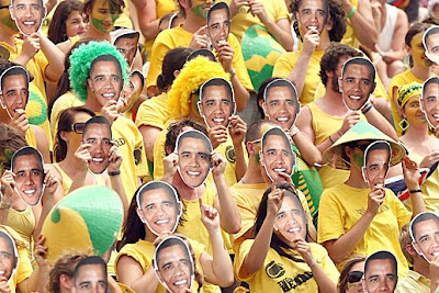 Aussie supporters mask themselves as obama
