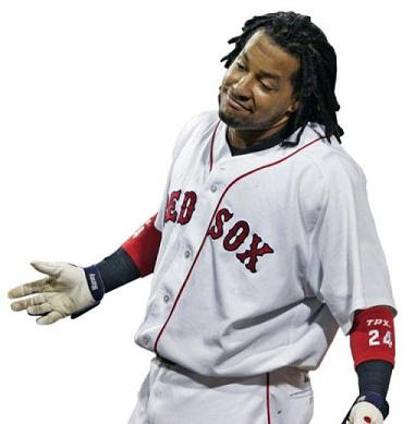 Los Angeles Dodgers outfielder Manny Ramirez