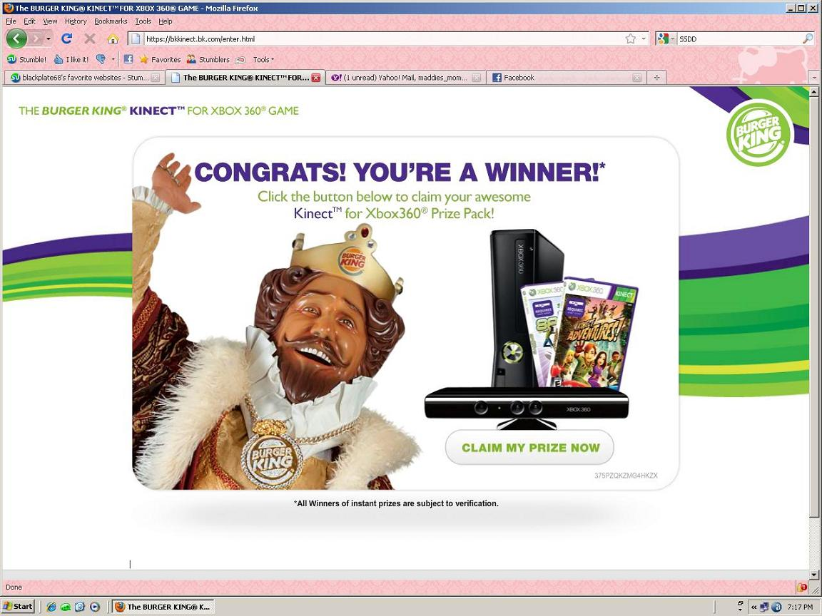 Microsoft eprize instant win