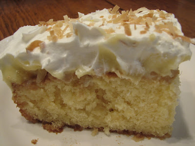 Pineapple Coconut Pudding Cake