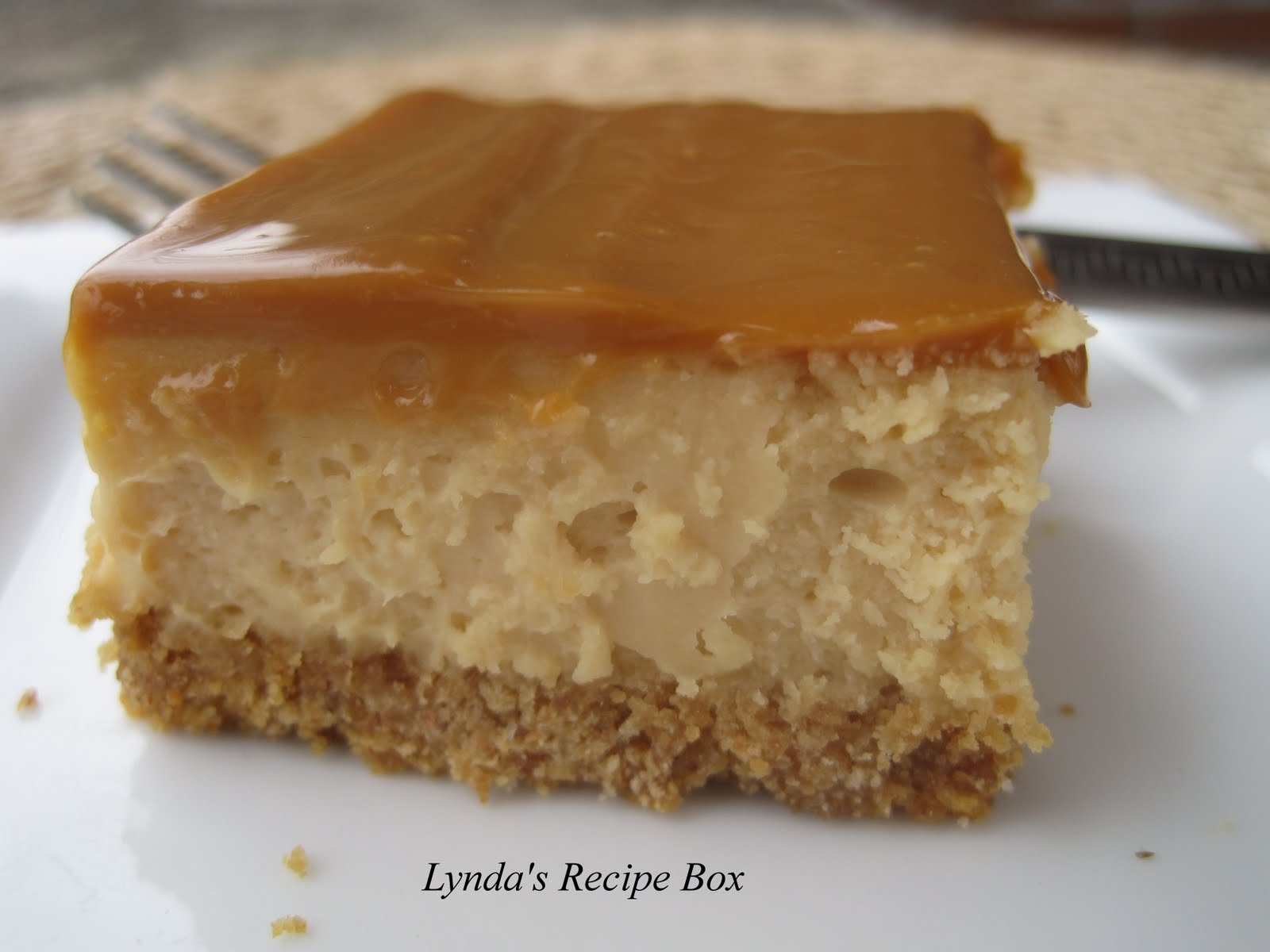 Lynda's Recipe Box: Dulce de Leche Cheesecake Bars Warning: May be ...