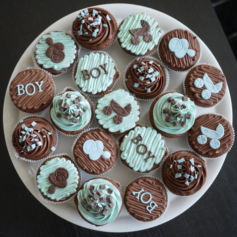 Boy Cupcake Ideas : Living Room Decorating Ideas: Baby Shower Cupcakes For A Boy