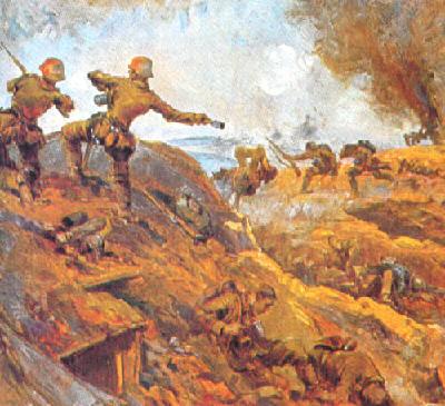 Al promediar el día 22 de febrero las tropas de choque alemanas