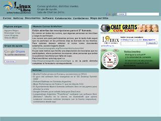 boceto del aspecto de la pagina principal del sitio Linux es Libre