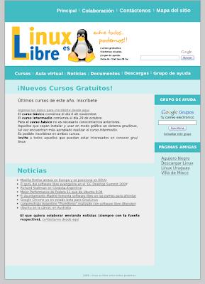 Nuevo diseño de la página Linux es Libre