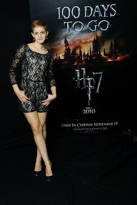 Emma Watson In A Lacy Minidress