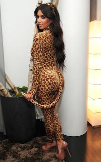 Kim Kardashian Leopardprint Catsuit