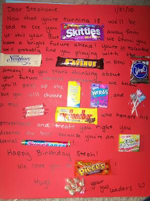 Birthday Cards Ideas birthday card using candy bars