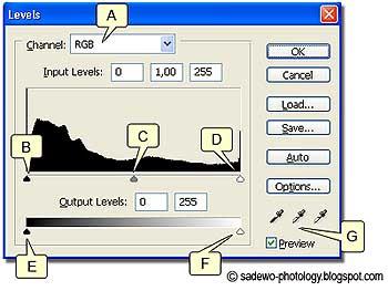 penggunaan levels untuk penyesuaian warna image