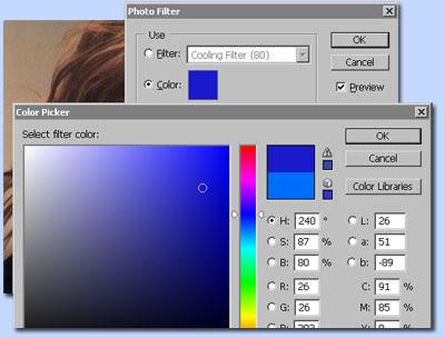 photoshop mengoreksi warna dengan Photo Filter