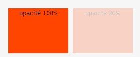 Opacité - Orange 100% et 20%
