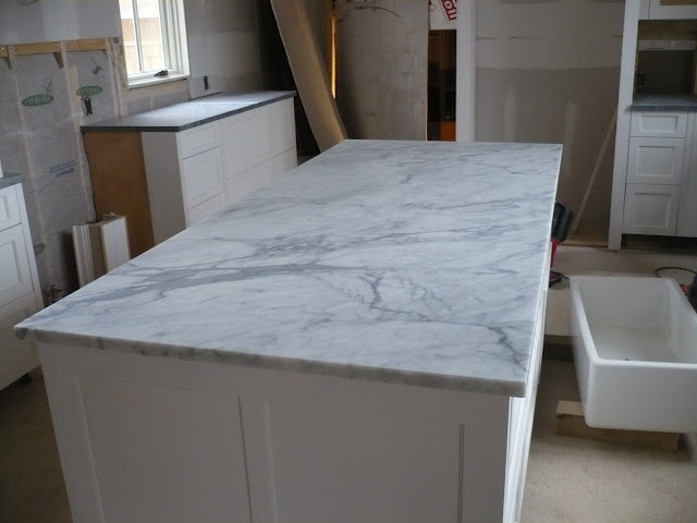 For The Love Of A House Kitchen 1. I Love The Movement In The Piece And It Goes Beautifully With The Soapstone On The Perimeter Of The Kitchen In The End The Carrara Would Have Been Lost In