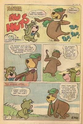 One page gags featuring yogi bear