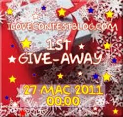 i♥contestblog 1st GiveAway