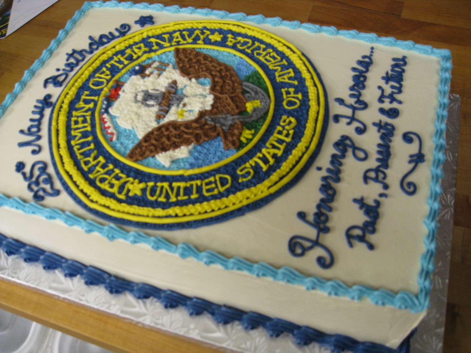 It s a Hoot!: Other Ways I Spend My Time: Navy Birthday Cake
