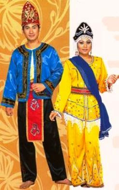 traditional attire by the Suluk ethnic group worn during the