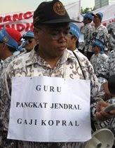 Guru Pangkat Jendral Gaji Kopral