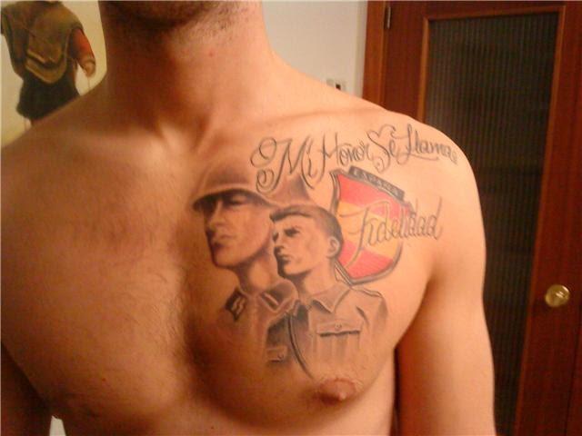 tatuajes joder amigo pecho en Granada
