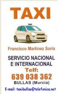 Taxi  en Bullas